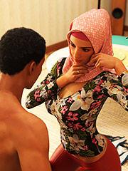 Let me see your beautiful body - Young love 3 (cuckold) by Losekontrol (Hijab 3DX)
