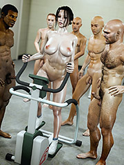 Group porn fitness - Naked gym by Jared999d