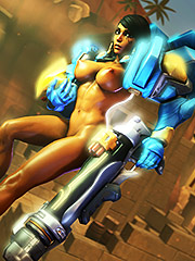 Pharah with big tits and tiny asses - Overwatch: Pharah  3D Collection